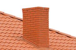 Brick smokestack  on white. Background Stock Images