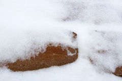 Brick and Snow Texture Royalty Free Stock Photography