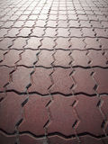 Brick square. Nice and tidy stone square paving by brick Stock Images