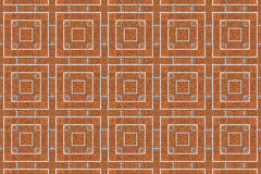 Brick square wall kaleidoscopic pattern Stock Image