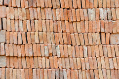 Brick stack, construction material Royalty Free Stock Images