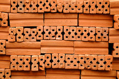 Brick stacking Royalty Free Stock Photography