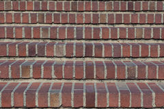 Brick stair. Front face of a brick stair Royalty Free Stock Photography