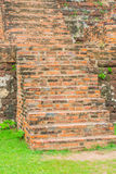 Brick stair in park Stock Photography