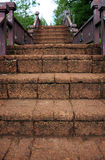 Brick stairs Royalty Free Stock Images