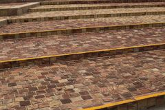 Spaced Out and Small Brick Steps stock image