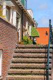 Brick stairway to entrance door in Kerkstraat street, Zandvoort, Stock Images
