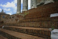 Brick Steps in Rome Stock Photos