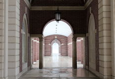 Brick and stone arched walkway Royalty Free Stock Image