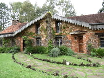 Brick and Stone Chalet Royalty Free Stock Images
