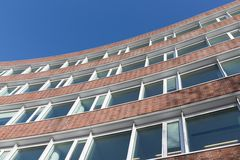 Brick stone facade modern office building in the Netherlands Royalty Free Stock Photo