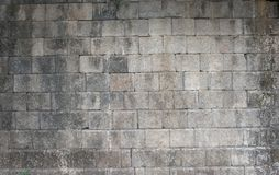 Brick stone gray wall background rough texture Stock Photo