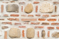 Brick and stone masonry wall background Stock Photography