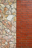 Brick and stone wall Stock Image