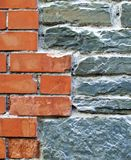 Brick and stone Wall Royalty Free Stock Photos