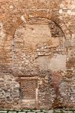Brick and stone wall in Barcelona royalty free stock photos