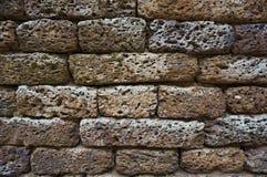 Brick stone wall. Basalt brick stone wall texture background Stock Image