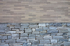 Brick and Stone Wall Stock Photo