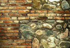 Brick and Stone Wall Texture Royalty Free Stock Photography