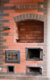 Brick stove Stock Photo