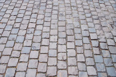 The brick street. For the background Stock Photography