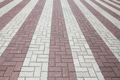 Brick street road, pavement texture Stock Photography