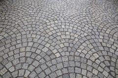 Brick street road, pavement texture Stock Images