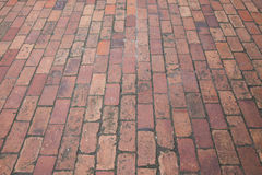 Brick street road, pavement texture Royalty Free Stock Photography