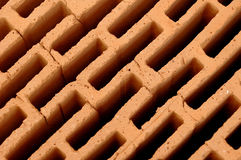 Brick structure pattern. A pattern in the structure of a brick royalty free stock photos