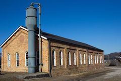 Homestead Pump House and Blue Sky Royalty Free Stock Images