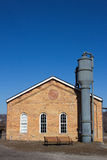 Homestead Pump House and Blue Sky Stock Photography