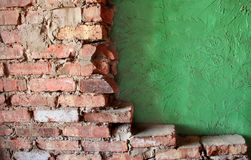 Brick and Stucco Walls Royalty Free Stock Photos