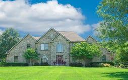 Brick Suburban Home Stock Images