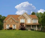 Brick Suburban Home Stock Photography