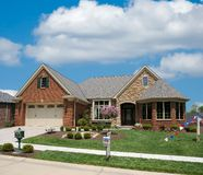 Brick Suburban Home Royalty Free Stock Photo