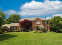 Brick Suburban Home Stock Photo