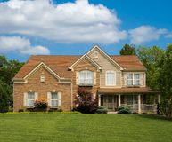 Brick Suburban Home Royalty Free Stock Images