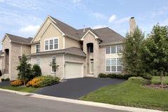 Brick suburban home Royalty Free Stock Image