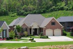 Brick Suburban Homes Royalty Free Stock Image