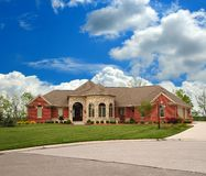 Brick Suburban Ranch Home Royalty Free Stock Photography