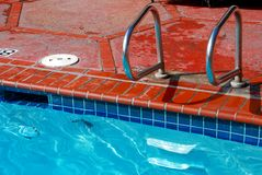 Brick Swimming Pool Edge and Tile Stock Images