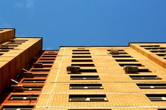 Brick tall building Royalty Free Stock Image
