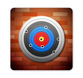 Brick and target Stock Images