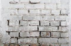 brick tekstury białe ściany Fotografia Royalty Free