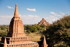 Brick Temple, Bagan, Burma Royalty Free Stock Images
