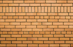 Brick texture. Real yellow brick wall texture, good background Stock Images