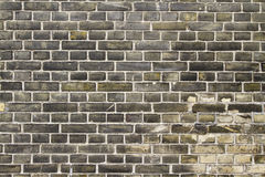 Brick texture. Grungy wall texture yellow and grey wall Stock Photos