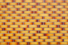 Brick texture of bicolor brick. Beautiful texture of brickwork in red and yellow colors for use as a background Royalty Free Stock Image