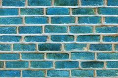 Brick texture of blue color closeup. Grooved brick texture of blue color closeup for background and for wallpaper Royalty Free Stock Image