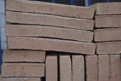Brick texture .Baumaterial. Brick texture building material Royalty Free Stock Photography
